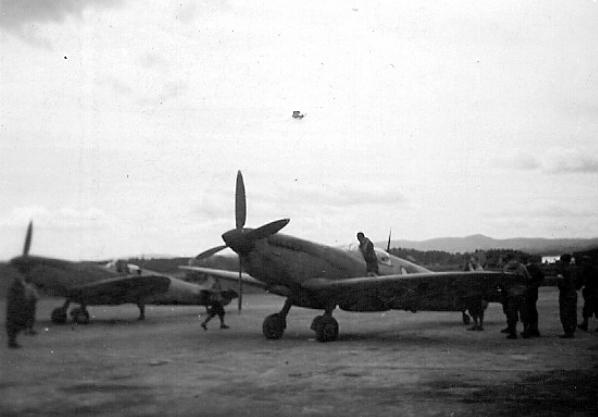 Norske Spitfire , Fornebu mai 1945
